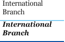International 	Branch