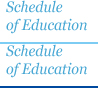 Schedule of Education